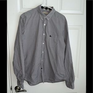 Burberry checkered button down shirt